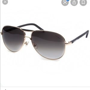 Victor&Rolf Leather Trim Boeing Sunglasses